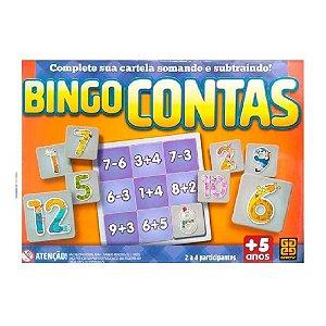 Jogo de Cartela Bingo Contas Somando e Subtraindo Grow 03945