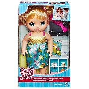 Boneca Baby Alive Escolinha Loira Hasbro B7223