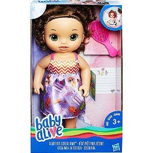 Brinquedo Boneca Baby Alive Escolinha Morena C2695  Hasbro