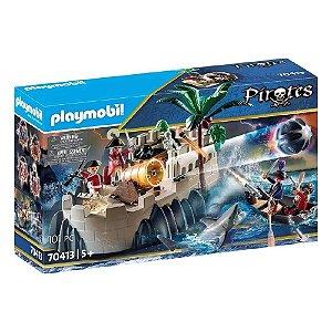 Brinquedo Playmobil Bastião do Casaco Vermelho Sunny 70413