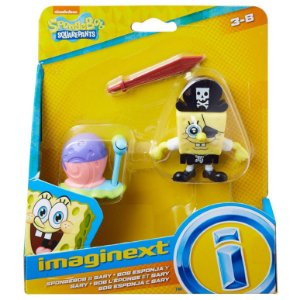 Imaginext Bob Esponja e Gary Piratas da Fisher Price Gpt79
