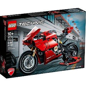 Lego Technic Veiculo Ducati Panigale V4 R de 646 Peças 42107