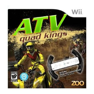 Jogo Mídia Física Atv Quad Kings com Racing Wheel Wii