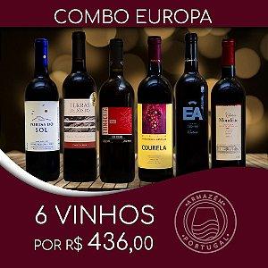 COMBO VINHOS TINTO DA EUROPA COM 6 UNIDADES
