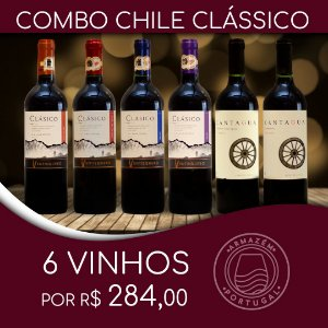 COMBO CHILE CLÁSSICO - CANTAGUA E VENTISQUERO COM 6 UNIDADES