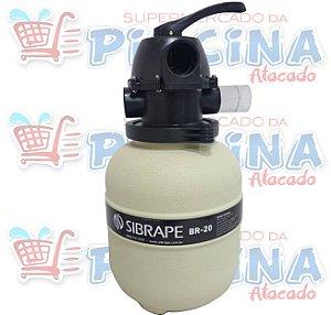 Filtro - Br-20 - Sibrape - Para Piscinas Até 20 m³ - Quantidade de 03 a 15
