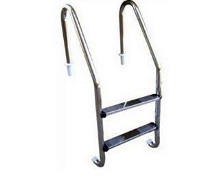 Escada para Piscina - Aço Inox - 2 Degraus em Aço Inox - Quantidade de 3 a 10