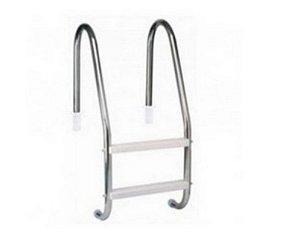Escada para Piscina - Aço Inox 304 - 2 Degraus em ABS - Quantidade de 3 a 10