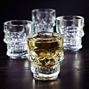 Kit 6 Copos de Shot Caveira Tequila Whisky