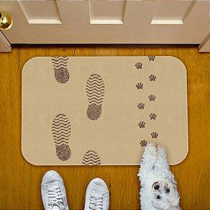Tapete Decorativo Pegadas e Pegadinhas patinhas