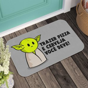 Tapete DrPepper Mestre MiniOda Trazer Pizza e Cerveja