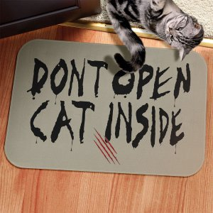 Tapete Decorativo Dont Open Cat Inside  twd
