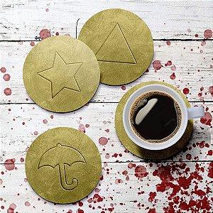 Jogo de Porta Copos Squid Game Dalgona Candy - 4 peças
