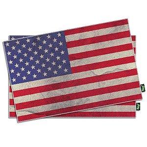 Jogo Americano Bandeira dos Estados Unidos - 2 peças