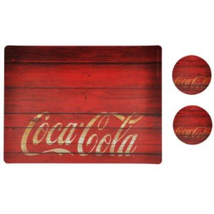Jogo Americano Coca-Cola Wood