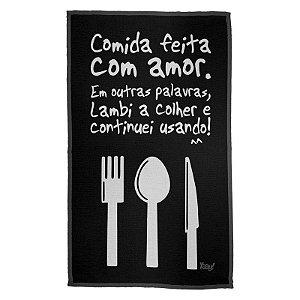 Pano Decorativo Multiuso Cozinho com Amor