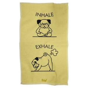 Pano Decorativo Multiuso Inhale Exhale Pug