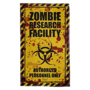 Pano Decorativo Multiuso Zombie Research Facility - Blood