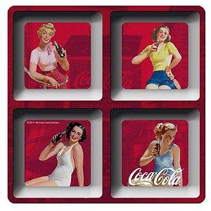 Petisqueira Quadrada Coca-Cola Pin-Ups