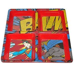 Petisqueira Quadrada DC Batman e Robin