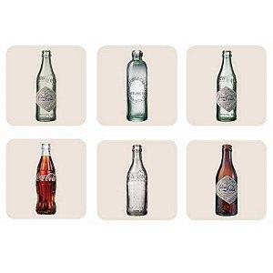 Porta Copos Coca-Cola Bottles - 6 peças