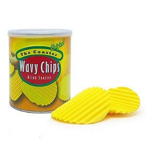 Porta Copos em Silicone Wavy Chips Original - 4 unidades