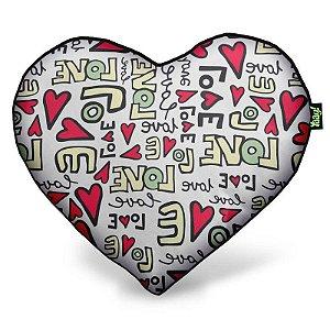 Almofada Coração Textura Love
