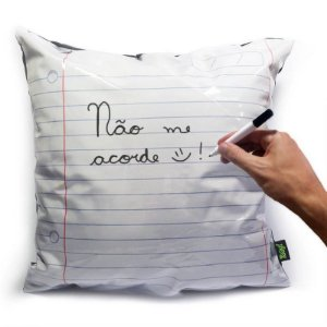 Almofada Folha de Fichário com caneta