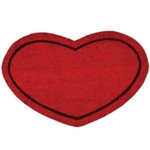 Capacho Coração em Fibra de Coco