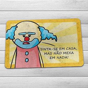 Capacho Eco Slim 3mm DrPepper Paiaço Sinta-se Em Casa