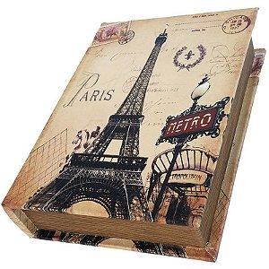 Caixa Livro Decorativa Paris Metro - 25 x 18 cm