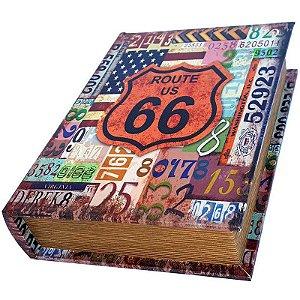 Caixa Livro Decorativa Route US 66 - 25 x 18 cm
