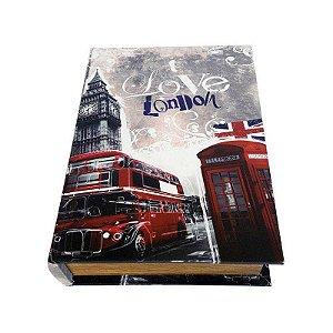 Caixinha Livro Decorativa Love London - 18 x 13 cm