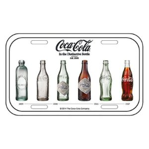 Placa de Metal Decorativa Coca-Cola Bottle Evolution