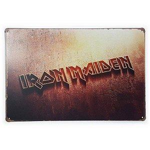 Placa de Metal Iron Maiden - 30 x 20 cm
