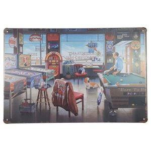 Placa de Metal Restaurant - 30 x 20 cm