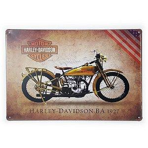 Placa de Metal Harley-Davidson BA 1927 - 30 x 20 cm