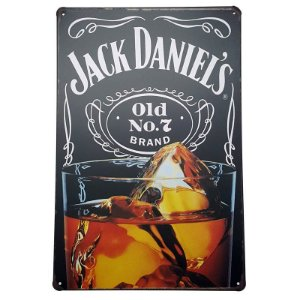 Placa de Metal Decorativa Jack Daniel's