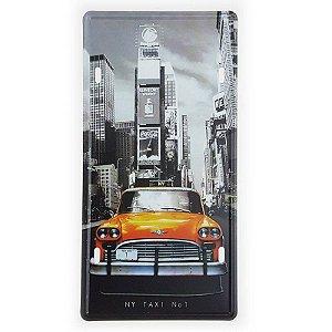 Placa de Metal Decorativa NY Taxi