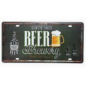 Placa de Metal Decorativa Beer Brewery