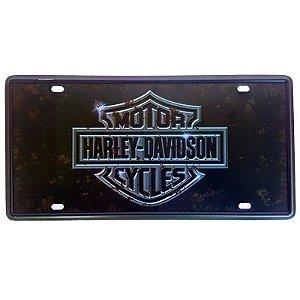 Placa de Metal Decorativa Harley Davidson - 30,5 x 15,5 cm
