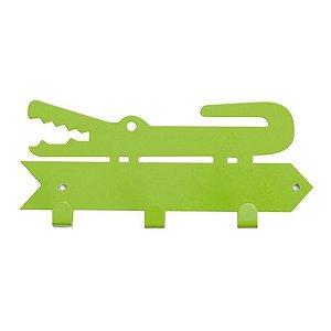 Cabideiro Jacaré - verde