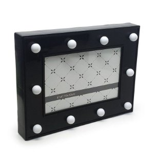 Porta Retrato Luminária sem Fio LED - preto