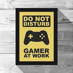 Quadro A4 Gamer at Work - 21 x 30 cm