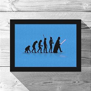 Quadro A4 Geek Evolution - azul - 21 x 30 cm