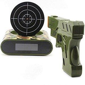 Relógio Despertador com Tiro ao Alvo - Gun Alarm camuflado