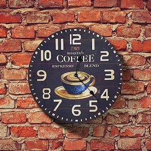 Relógio de parede Retrô Roasted Coffee