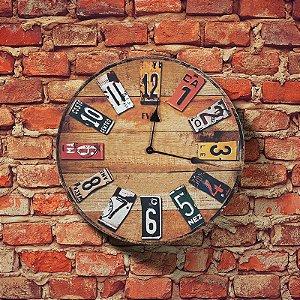 Relógio de parede Retrô Placas