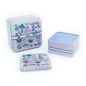 Jogo de latas Cupcakes - 2 unidades