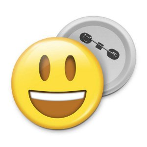 Botton Emoticon - Emoji Feliz